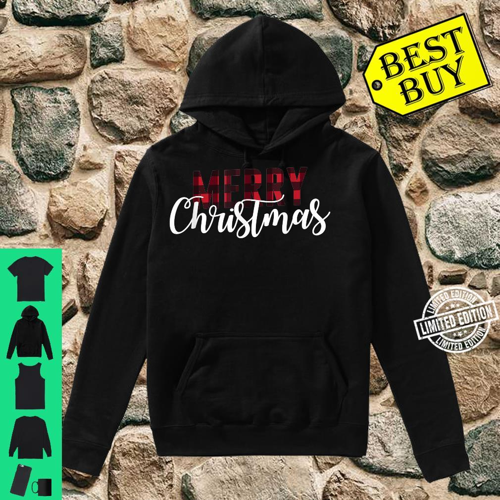 Merry Christmas Plaid Christmas Letter Printed Shirt hoodie