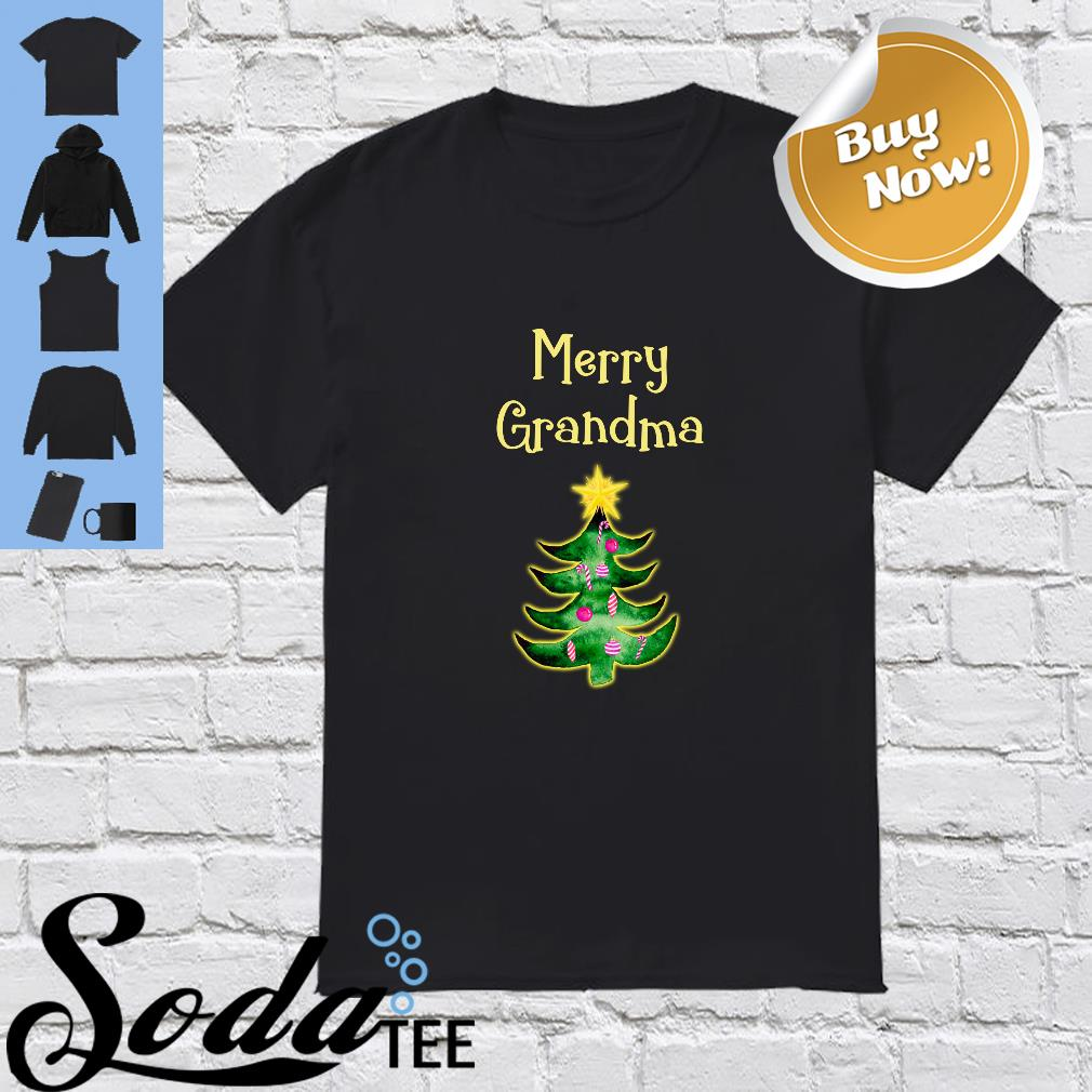 Merry Grandma Christmas Tree Shirt