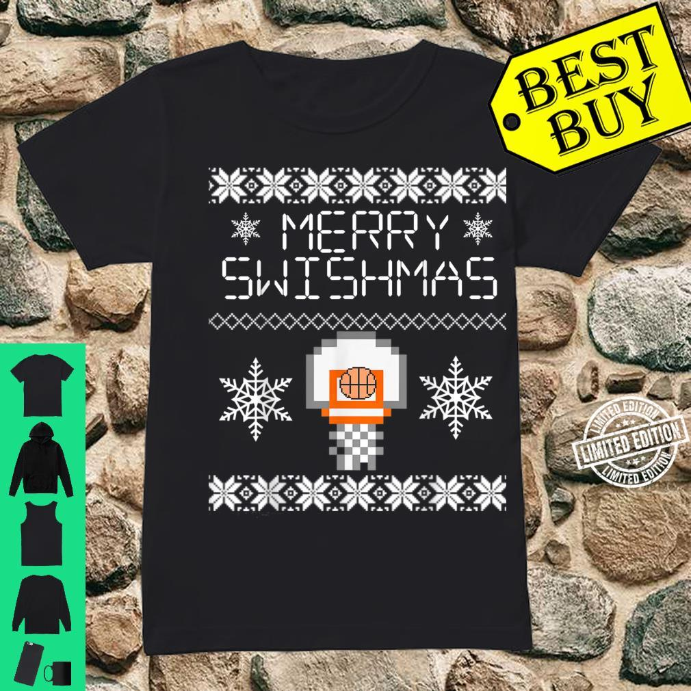 Merry Swishmas Holiday Christmas Ugly Shirt ladies tee