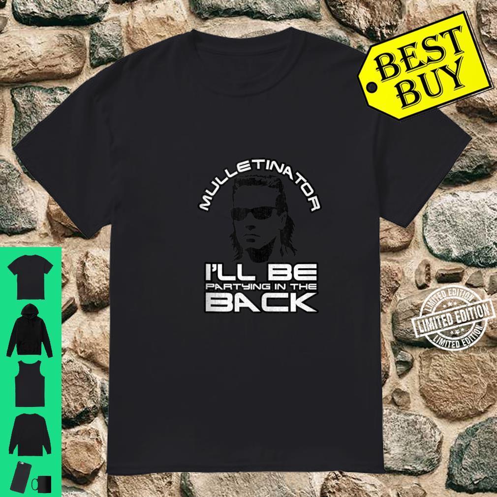 Mulletinator Funny Mullet Shirt, Redneck Mullet Shirt