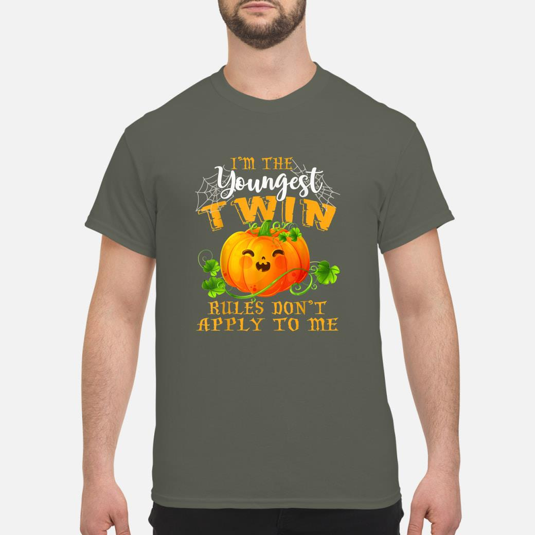 Pumpkin Youngest Twin Rules Don't Apply To Me Halloween Shirt