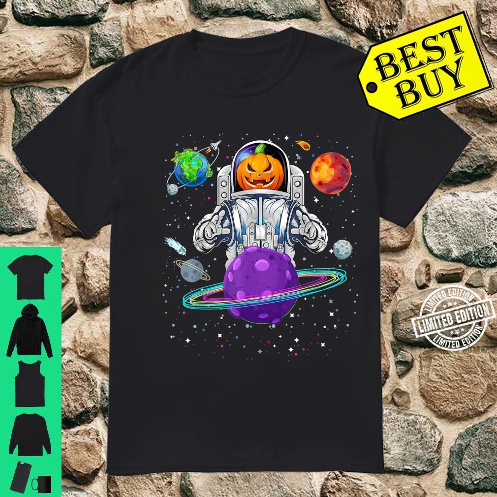 Raumfahrer mit Kürbiskopf zu Halloween Shirt