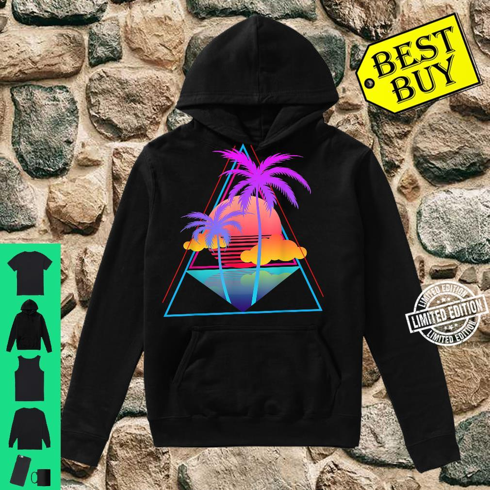 Retro 1980s 1990s Vaporwave Palm Trees Sunset Pastel Art Shirt hoodie
