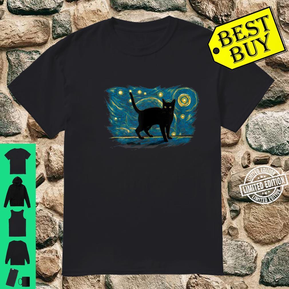 Retro Vintage Style Black Cat Shirt