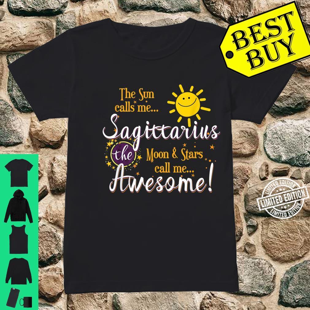 Sagittarius Sun Sign Zodiac Astrology Birthday Party Apparel Shirt ladies tee