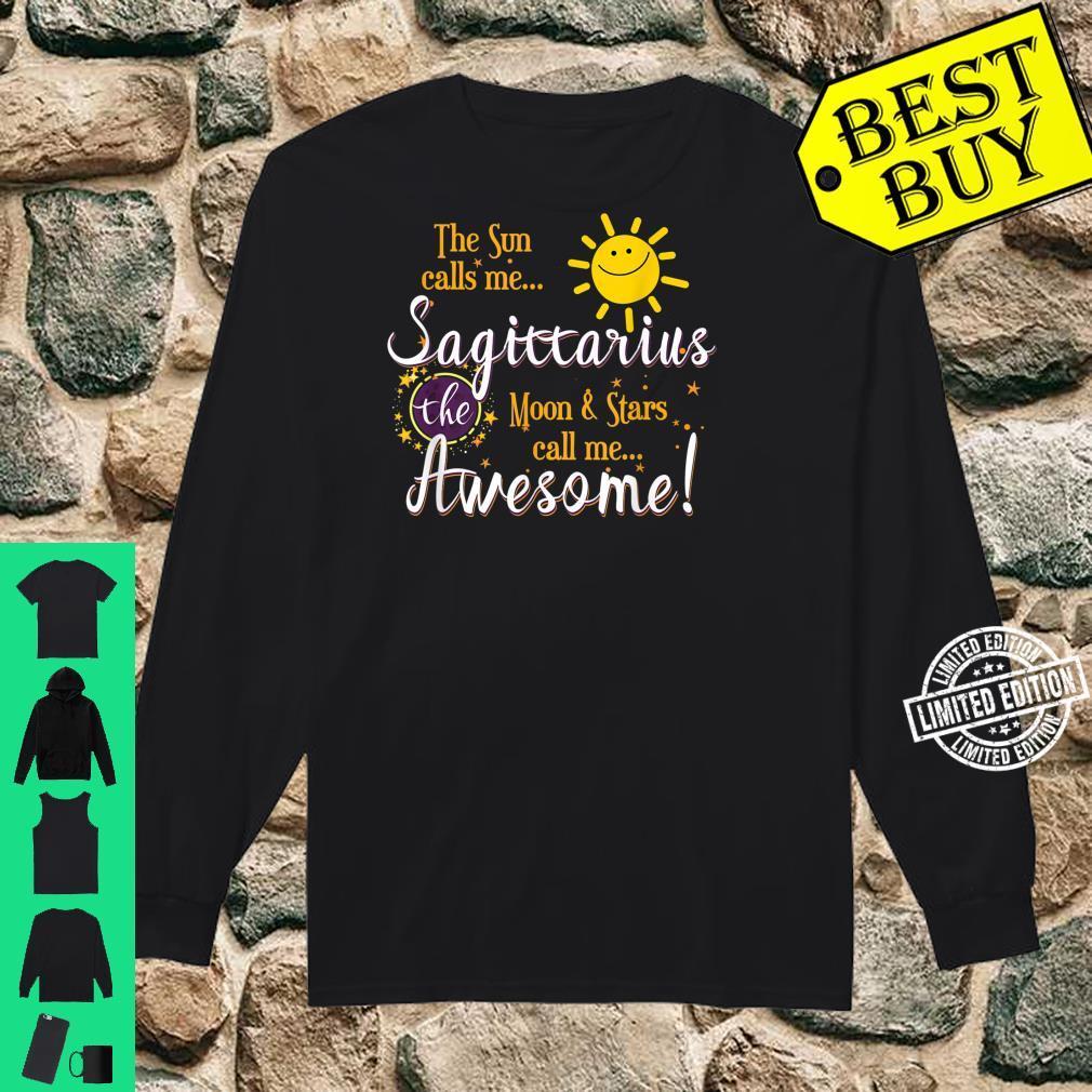 Sagittarius Sun Sign Zodiac Astrology Birthday Party Apparel Shirt long sleeved