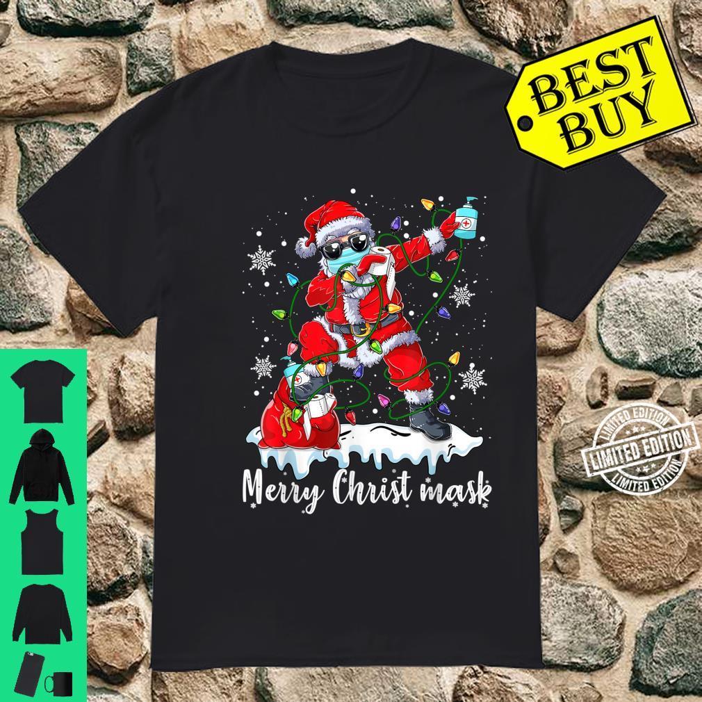 Santa Wearing Mask Quarantine Christmas 2020 Shirt