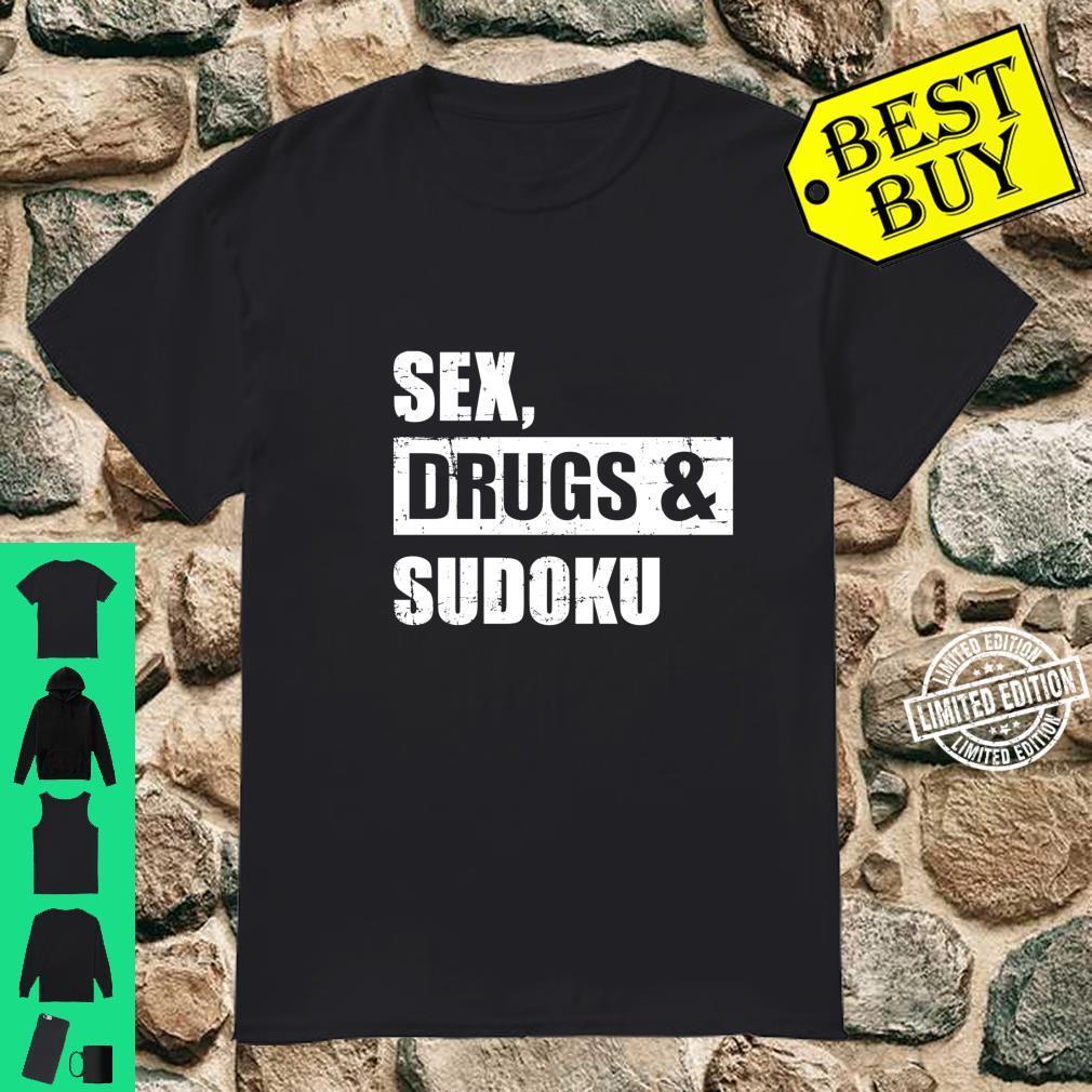 Sex drugs and sudoku Langarmshirt Shirt
