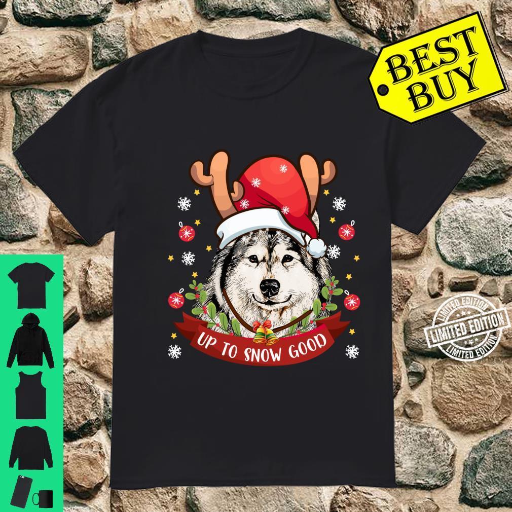 Siberian Husky Dog Reindeer Christmas Boys Girls Shirt