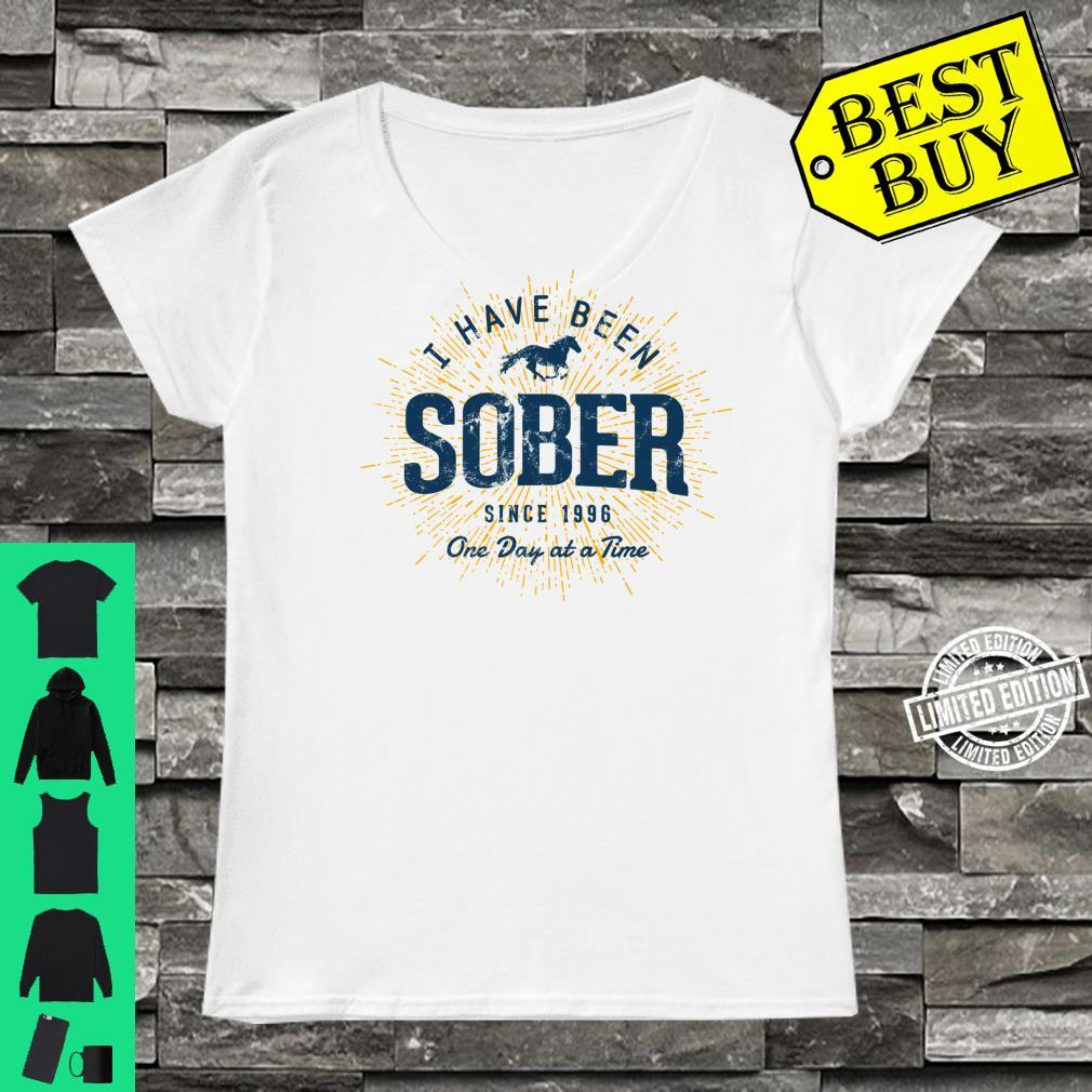 Sober Since 1996 Sobriety 25 Year Sober Shirt ladies tee