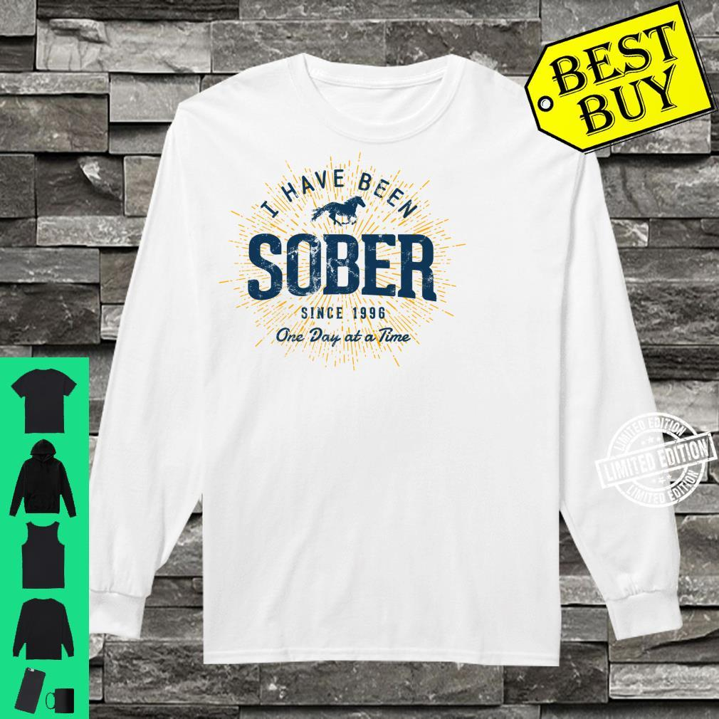 Sober Since 1996 Sobriety 25 Year Sober Shirt long sleeved