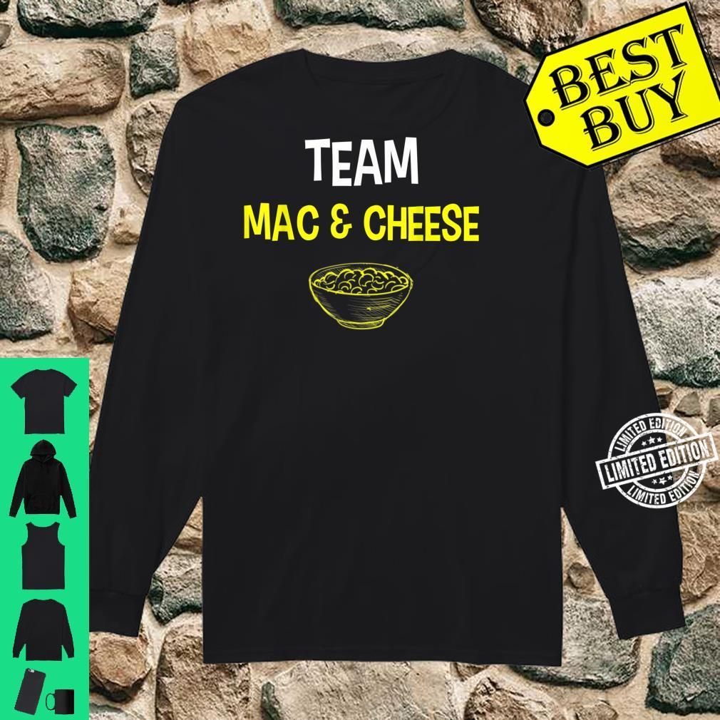Team Mac And Cheese Family Matching Thanksgiving Shirt long sleeved