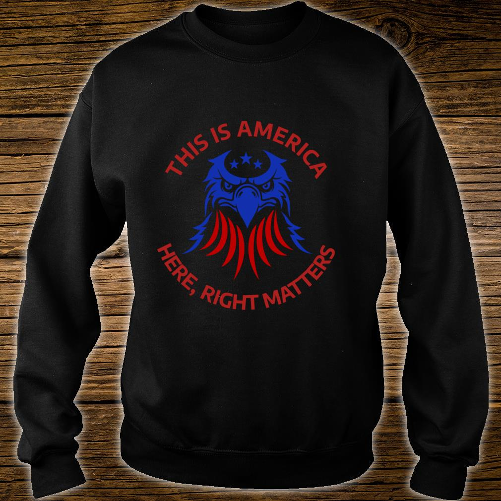This is America Here Right Matters shirt sweater