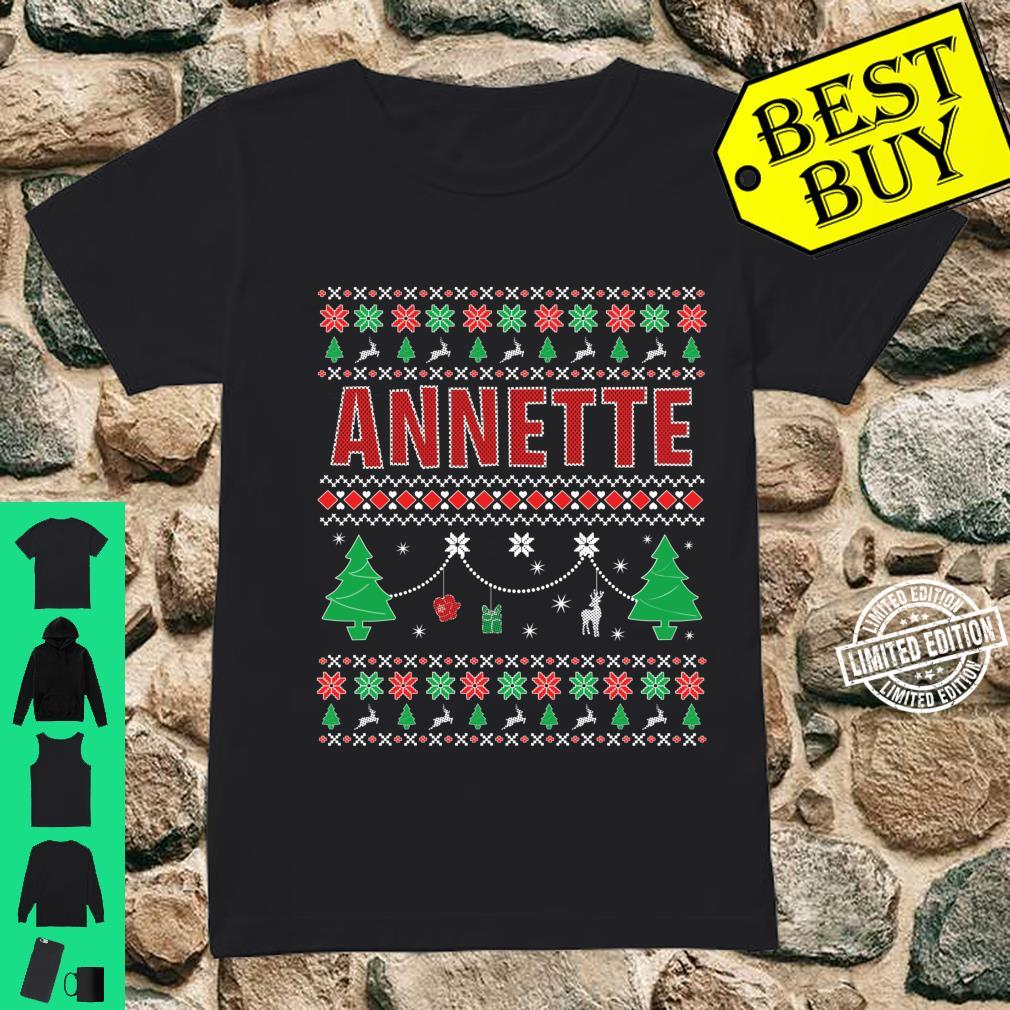 Ugly Christmas themed Personalized for Annette Shirt ladies tee