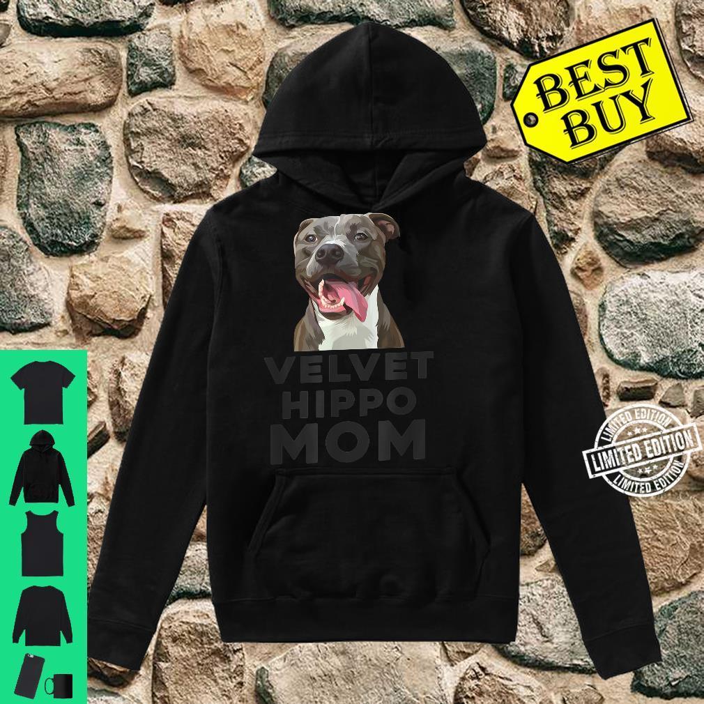 Velvet Hippo Mom Pitbull Dog Owner Pitbulls Shirt hoodie