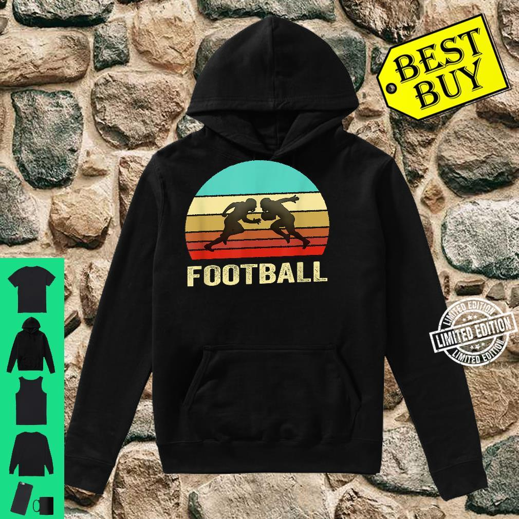 Vintage Retro Style Sunset Football Shirt hoodie