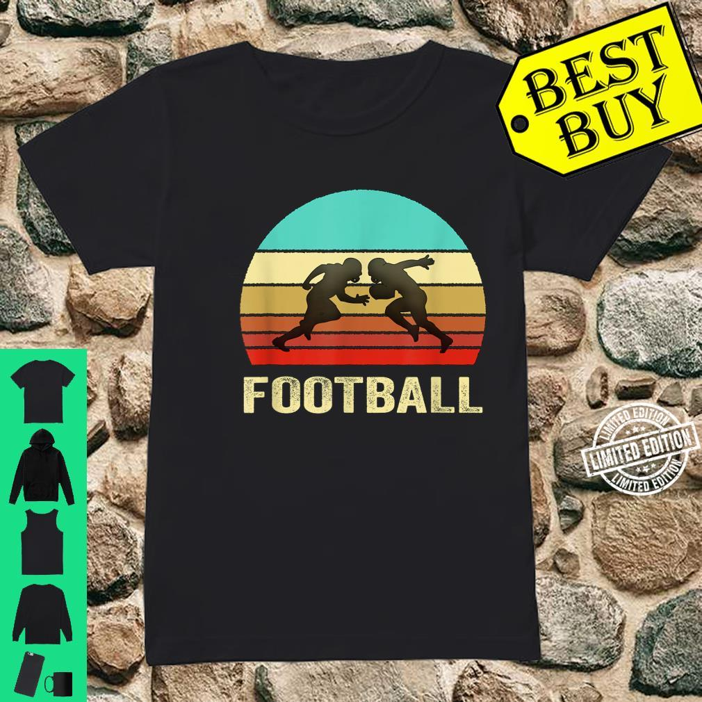 Vintage Retro Style Sunset Football Shirt ladies tee