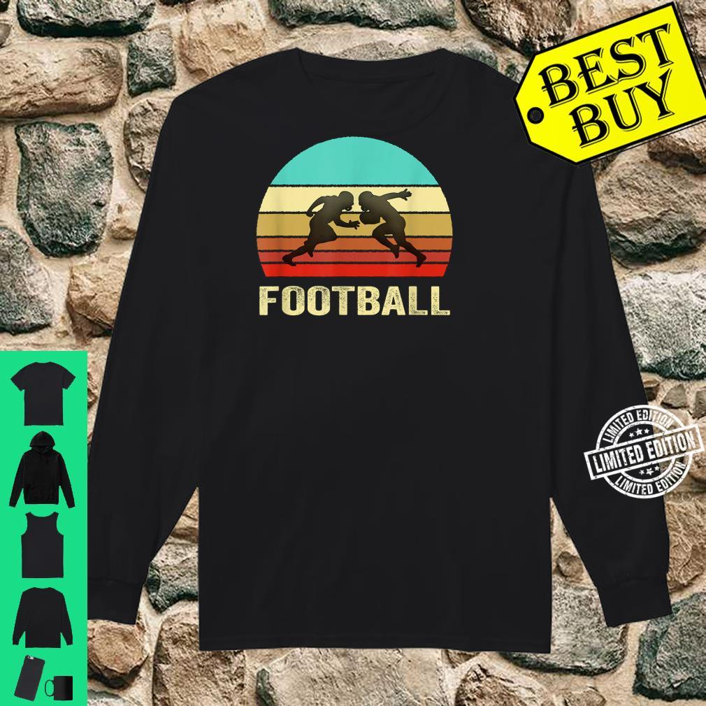 Vintage Retro Style Sunset Football Shirt long sleeved