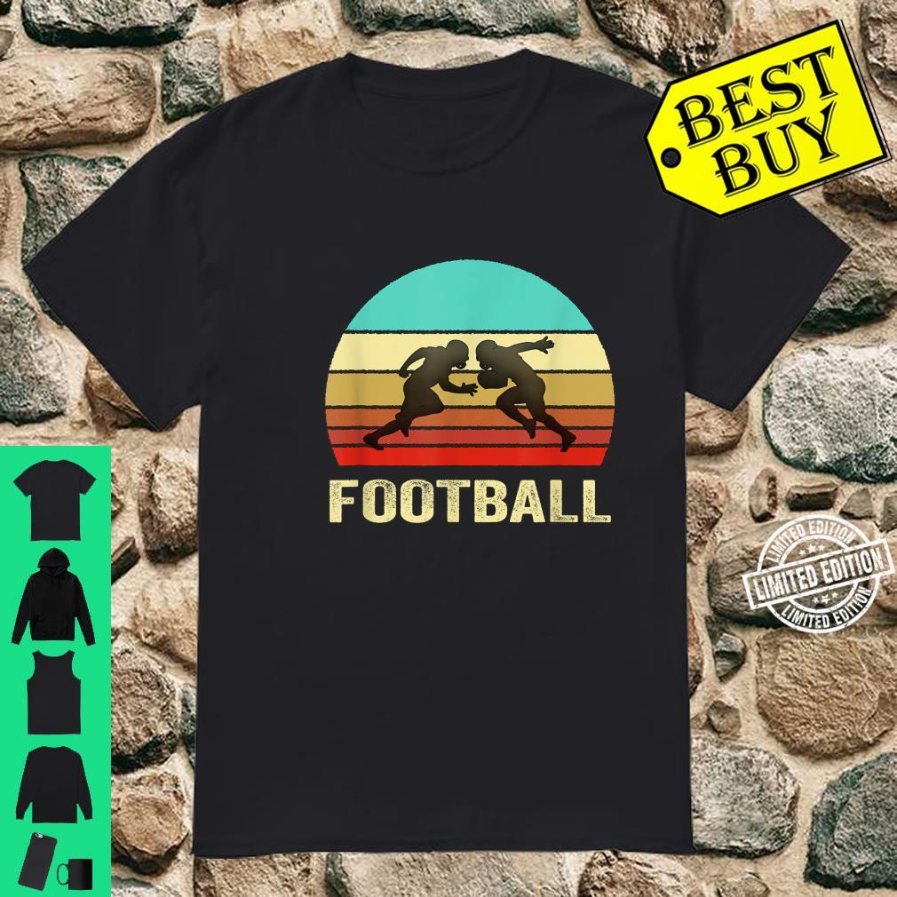 Vintage Retro Style Sunset Football Shirt